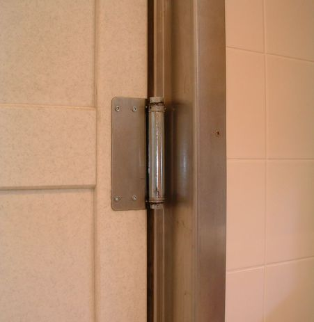 Maximum swinging door width by code